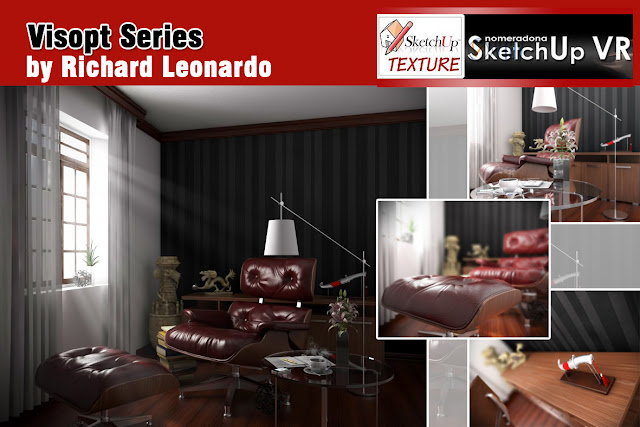vray for sketchup visopt  interior scene #11