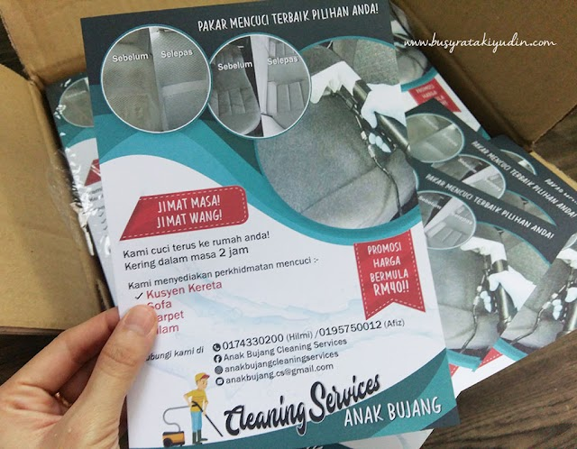 TEMPAHAN 2000PCS FLYERS CLEANING SERVICES ANAK BUJANG