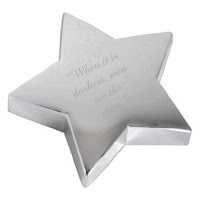 Engraved Silver Star