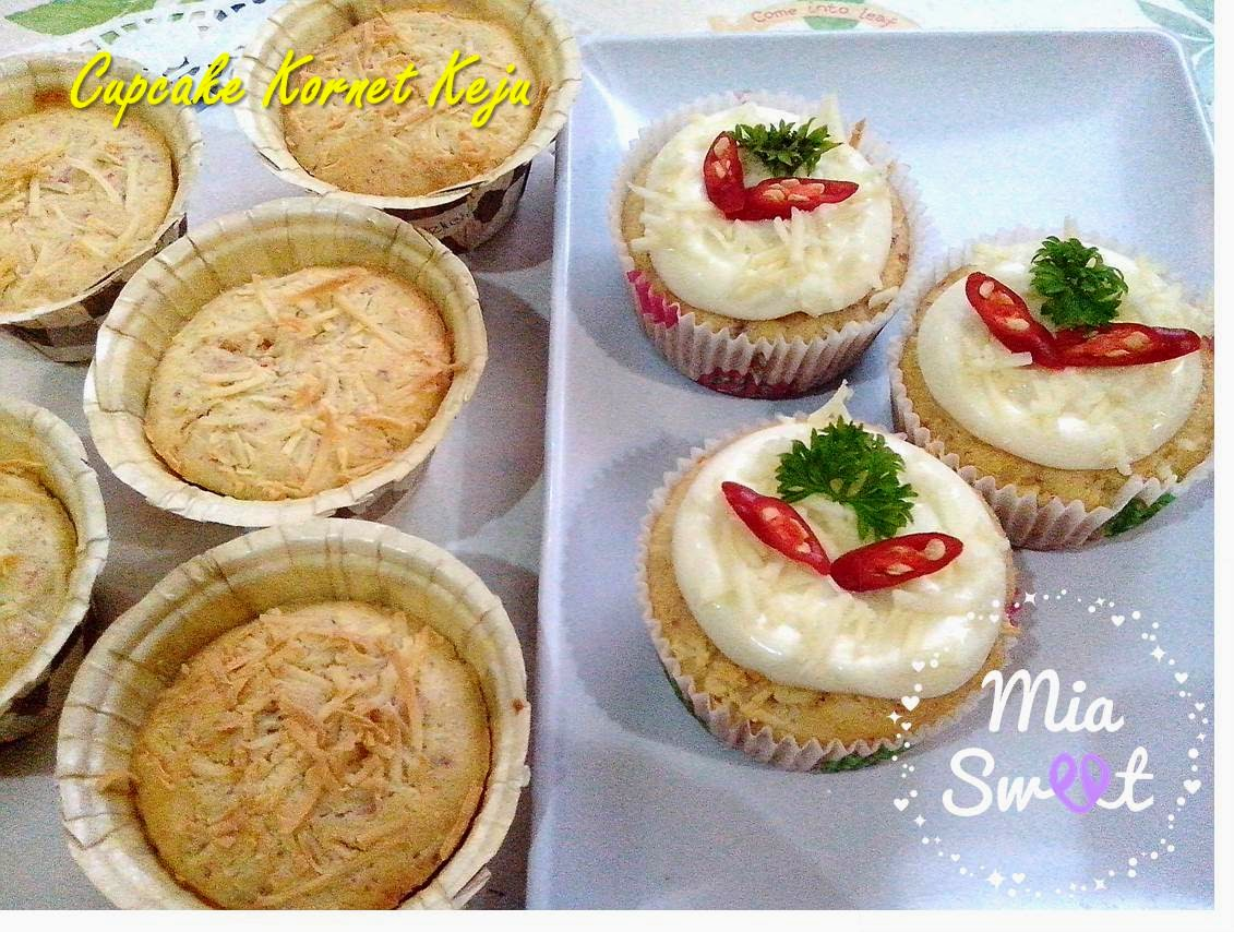 Resep Cake Keju Jepang: Mia Sweet: Resep Cupcake Kornet Keju