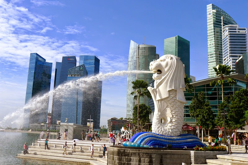 Cara Ke Merlion Park Singapore