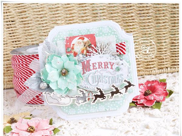 Christmas Prima Card / Primowa Kartka Świąteczna