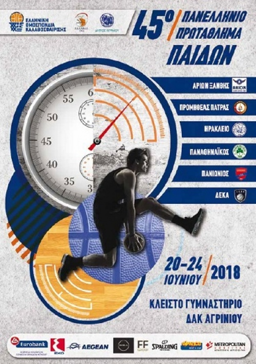 ΕΟΚ | Τελική Φάση 45ου Πανελλήνιου Πρωταθλήματος Παίδων. Το πρόγραμμα των αγώνων. Οι συνθέσεις των ομάδων.