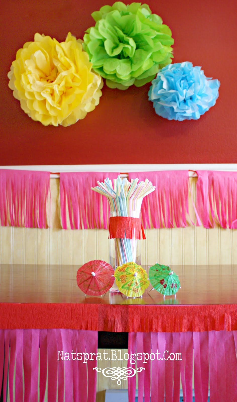 Natsprat Tissue Paper Party Decorations Tutorial