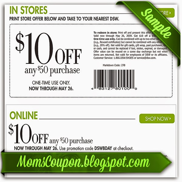 Dsw shoes coupons in store