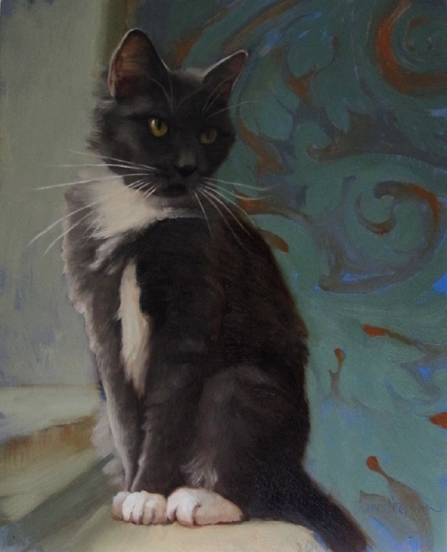 Perched a new cat painting