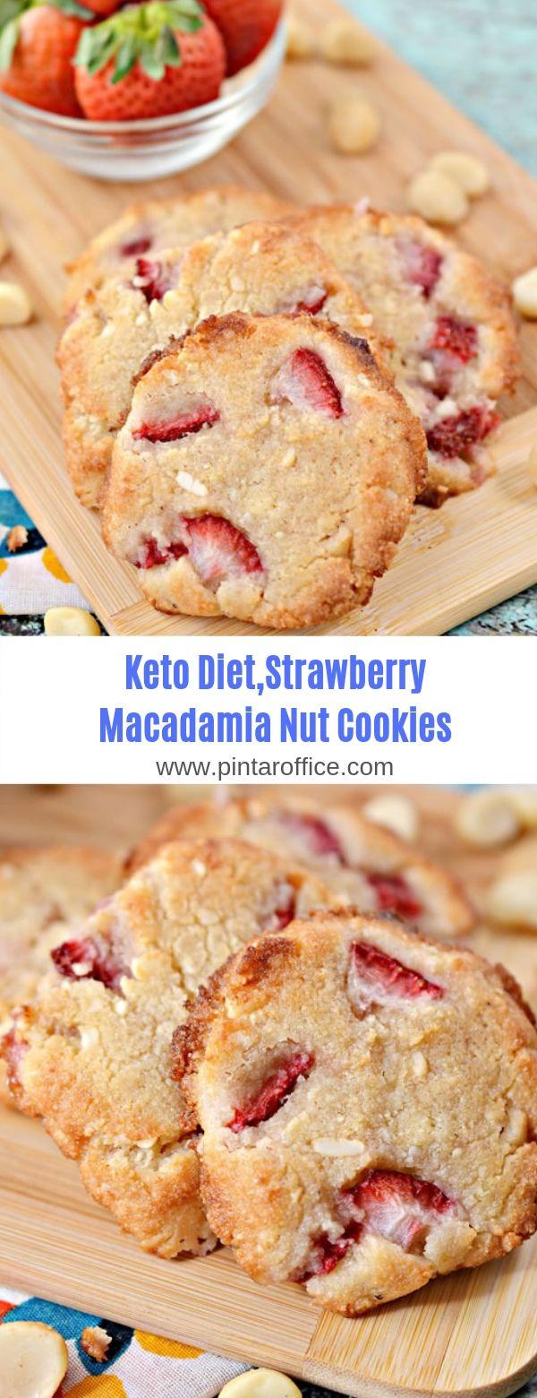 Keto Diet Strawberry Macadamia Nut Cookies