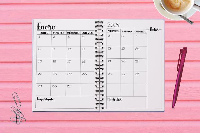 agenda monisima imprimible 2018 monerias pamonisimayo