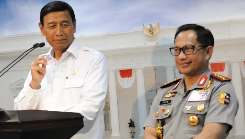Menkopolhukam Wiranto dan Kapolri Jenderal Tito Karnavian