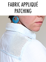 Transform a shirt using a patch of fabric