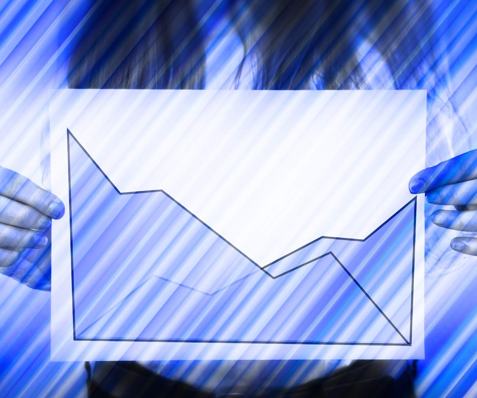 Business statistic stock photo