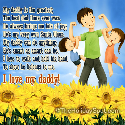 Beautiful Happy Fathers Day Poems 2017 From Son & Daughter To Send Your Dad On Father's Day