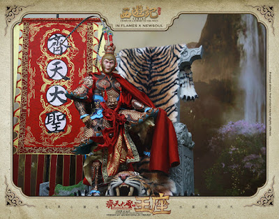 osw.zone IN FLAMES x NEWSOUL History of the Journey to the West 1/6. Scale monkey king on throne