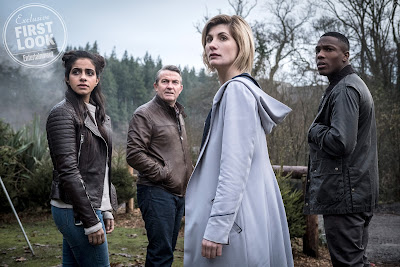 13th Doctor Yasmin Khan Ryan Sinclair and Graham in Doctor Who series 11