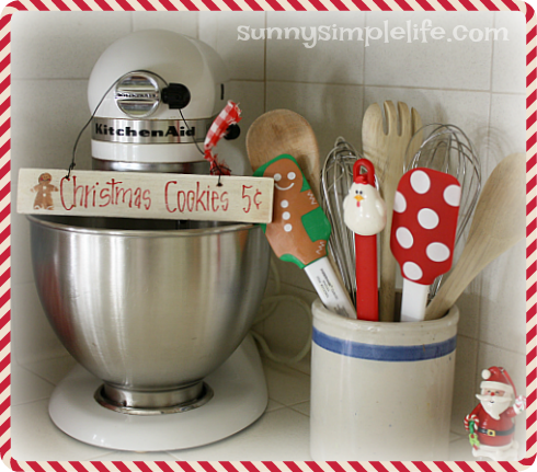baking center, Christmas baking decor