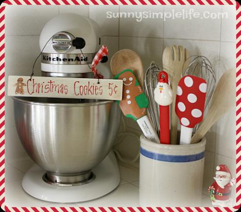 baking center, Christmas baking decor