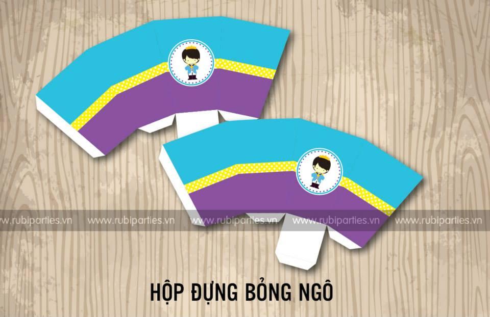 Hop dung bong ngo sinh nhat theo chu de Hoang Tu