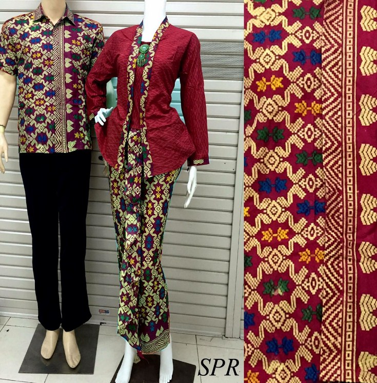 32 Model Baju Batik Embos Muslim Couple Kombinasi Sarimbit ...