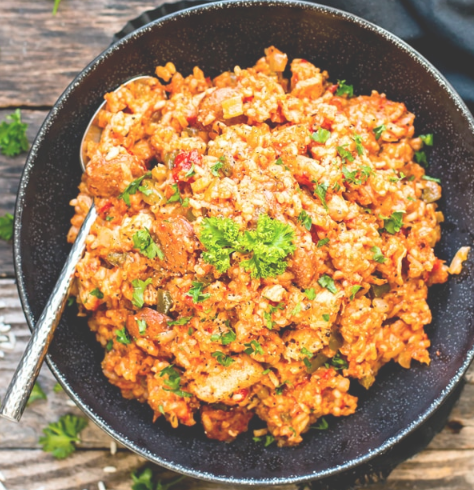 SAUSAGE & CHICKEN CAJUN JAMBALAYA #dinner #healthyeating