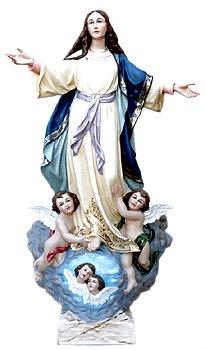 Foto de la cerámica de la Virgen de la Asunción a color