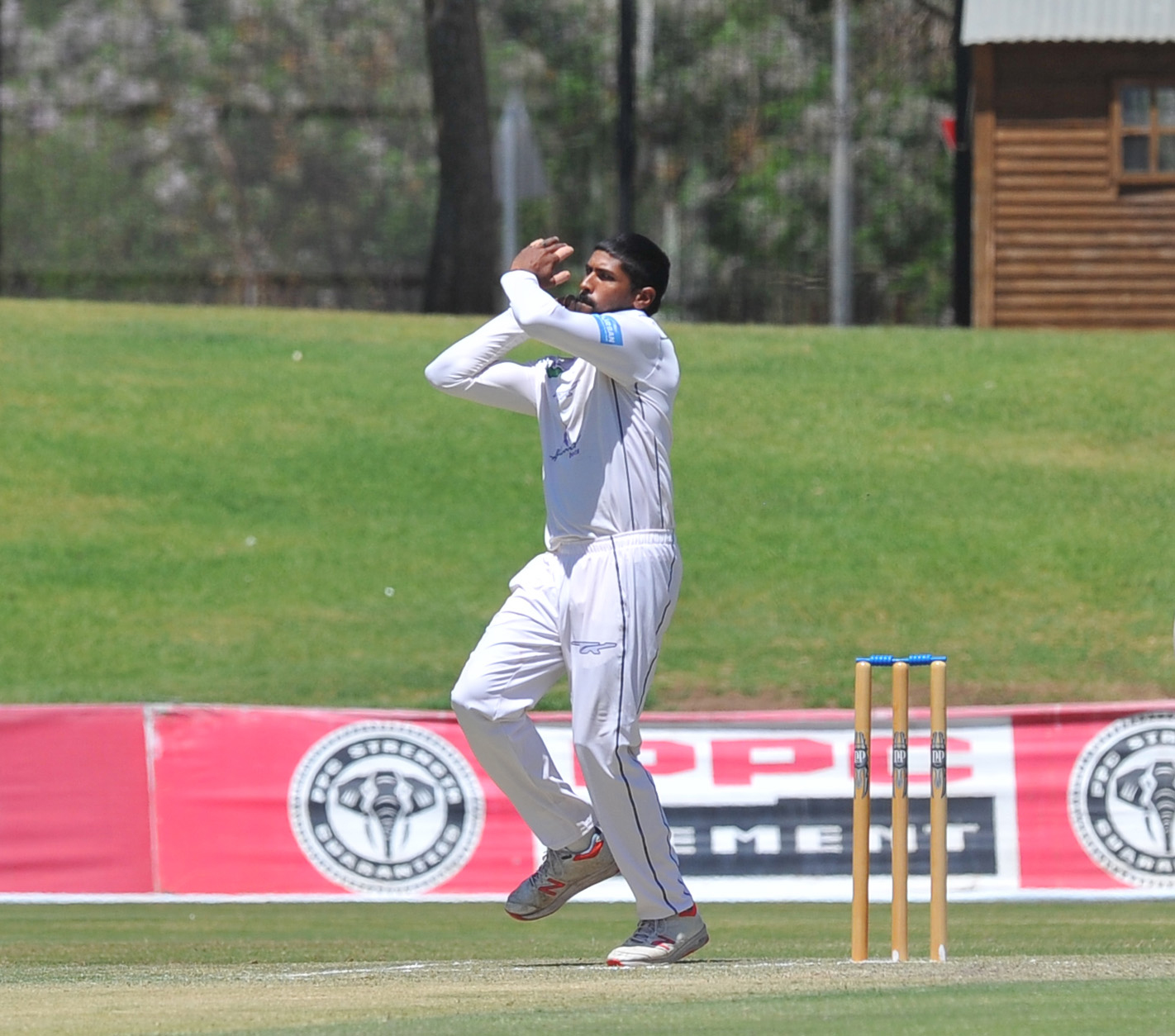 Prenelan Subrayen bowling for the  Hollywoodbets Dolphins in the 2019/20 4 Day Franchise Series