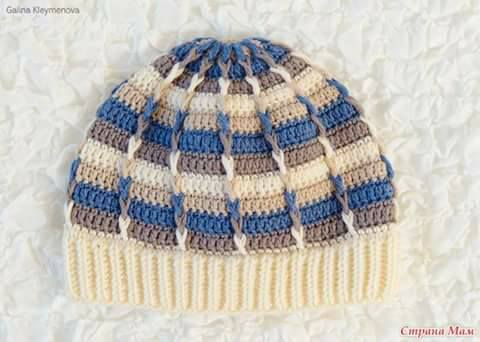 wzory czapek szydelkiem i na drutach