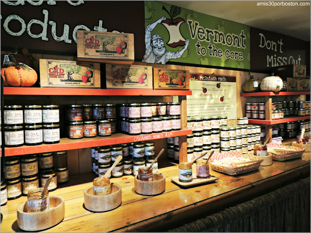 Muestras de Productos de la Cold Hollow Cider Mill en Vermont
