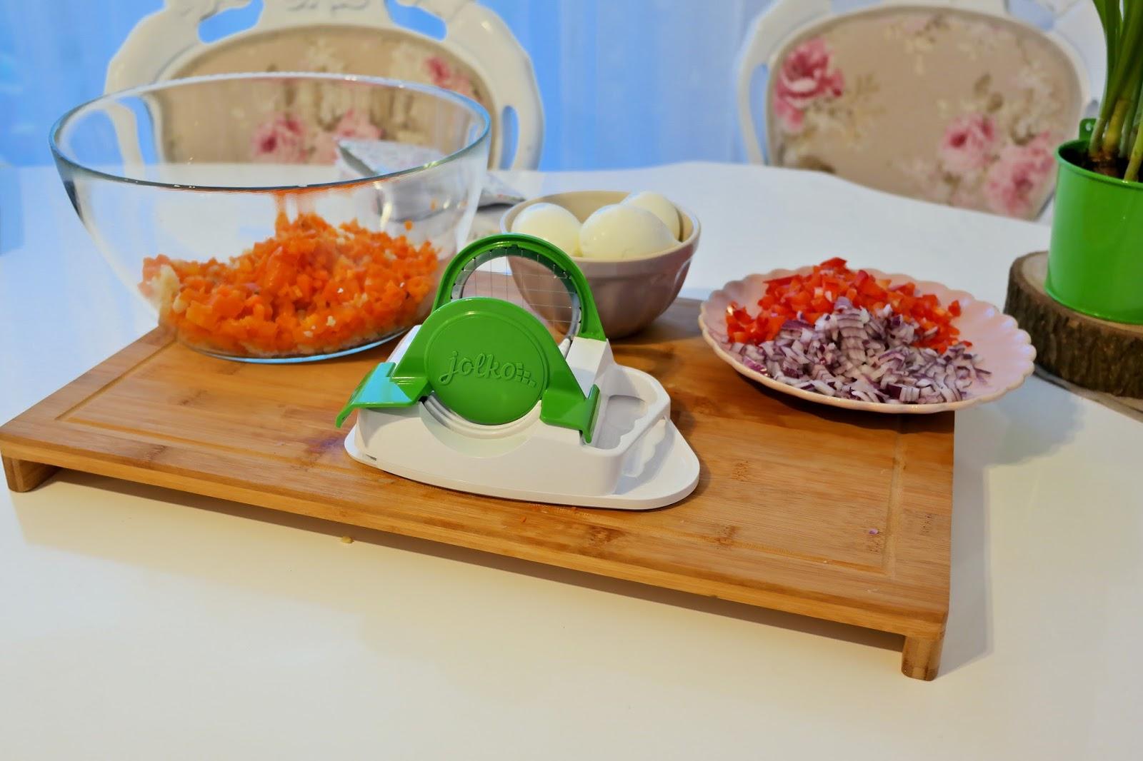 jak łatwo pokroić warzywa na sałatkę