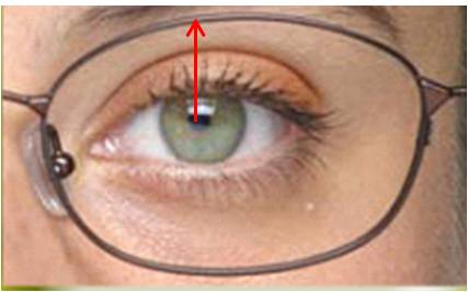 feb7f5c58 Altura superior: medida vertical entre pupila e borda superior