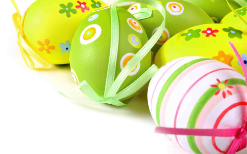 Pretty Easter Eggs with Bows Wallpaper