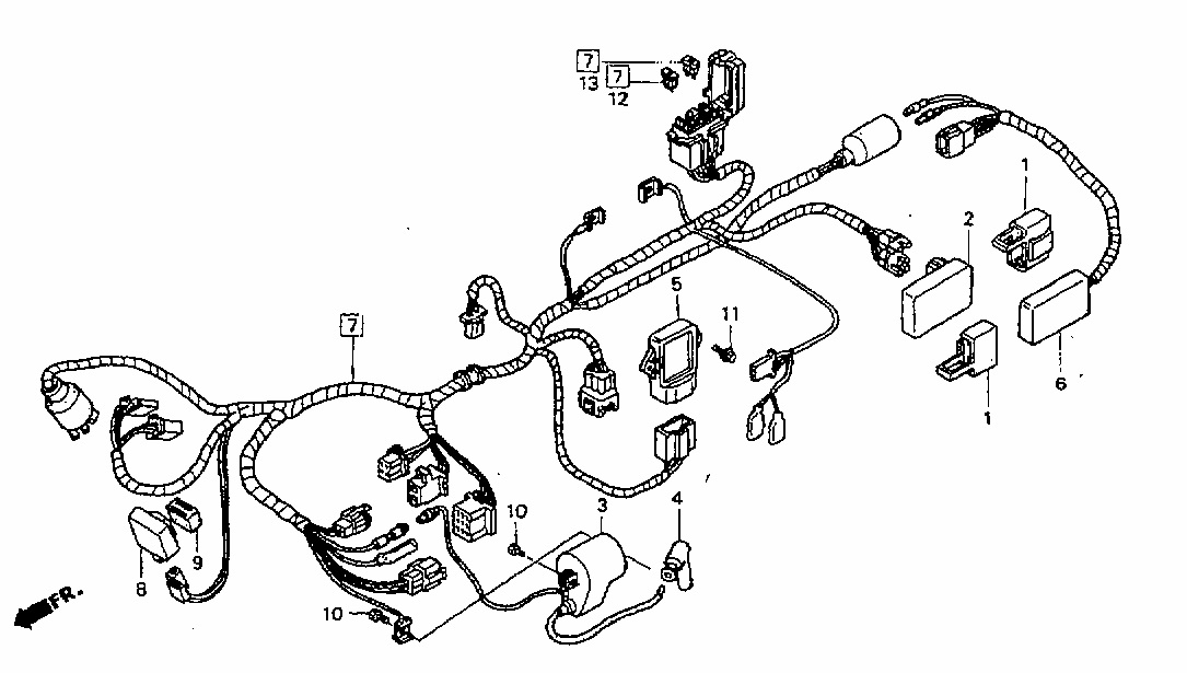 Honda Motorcycle Wiring Diagram Xl100 Plete Mvc Struts Architecture 8 Pin Cdi - Fuse Box