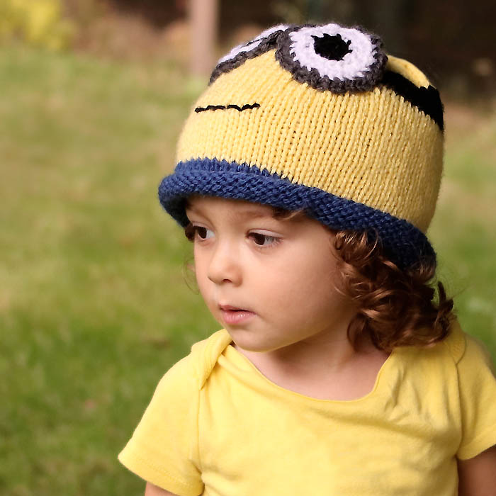 Minion Hat Free Knitting Pattern Perfect For Halloween Gina