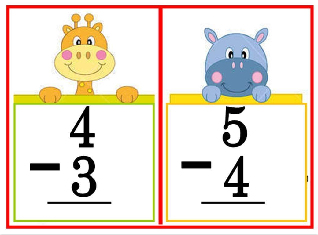 Teacher Fun Files Subtraction Flashcard 3
