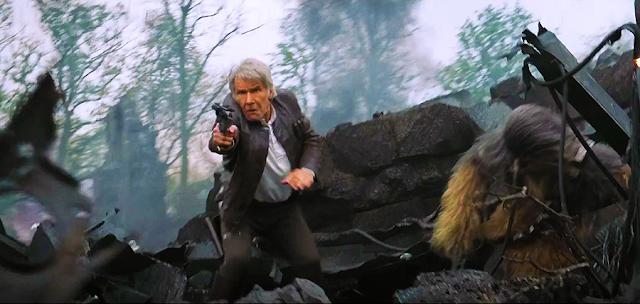 Han Solo şi Chewie în luptă