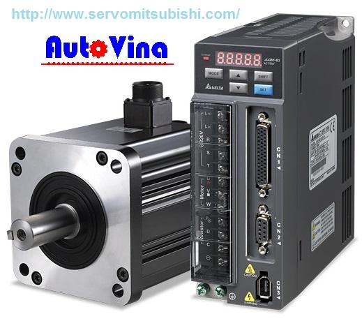 Auto Vina đơn vị nhập khẩu và phân phối bộ điều khiển AC Servo, Động cơ Motor Servo hãng Delta 1kW : ASD-B2-1021-B , ECMA-E21310GS - ECMA-E21310RS