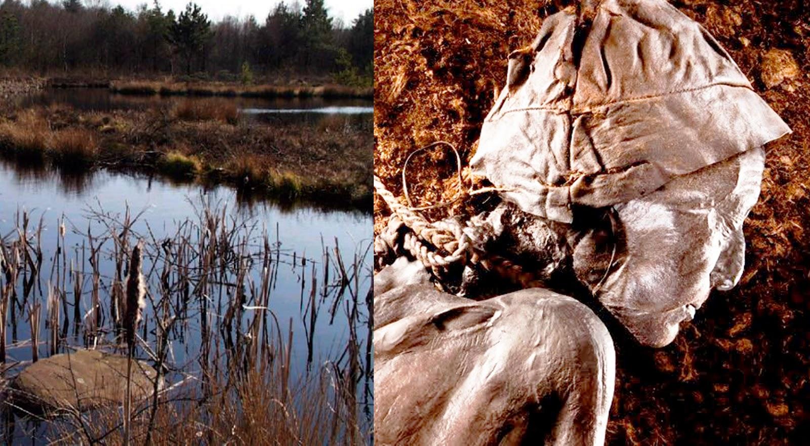 Corpos misteriosos de 2 mil anos são encontrados em pântano da Dinamarca.  As imagens são impressionantes  veja 5b72d4f8958