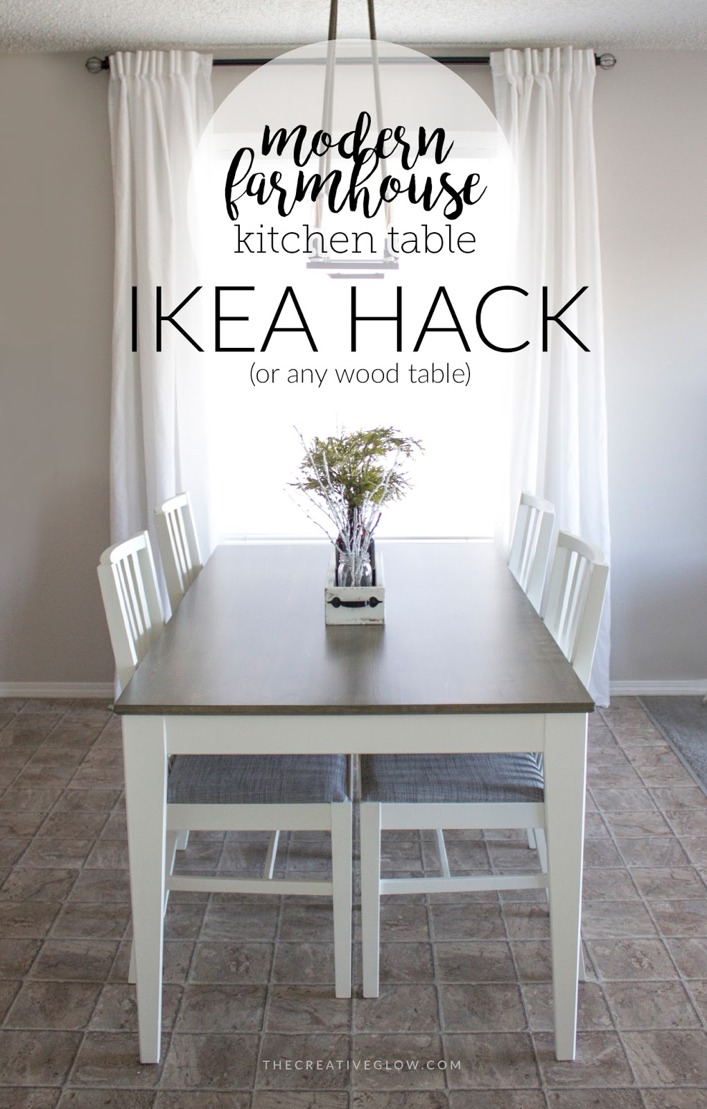My Modern Farmhouse Kitchen Table - IKEA Hack (or not ...