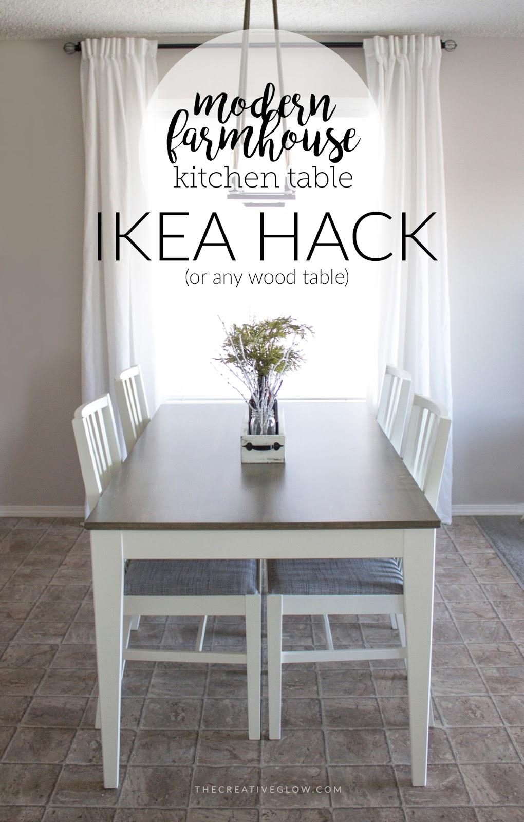 My Modern Farmhouse Kitchen Table