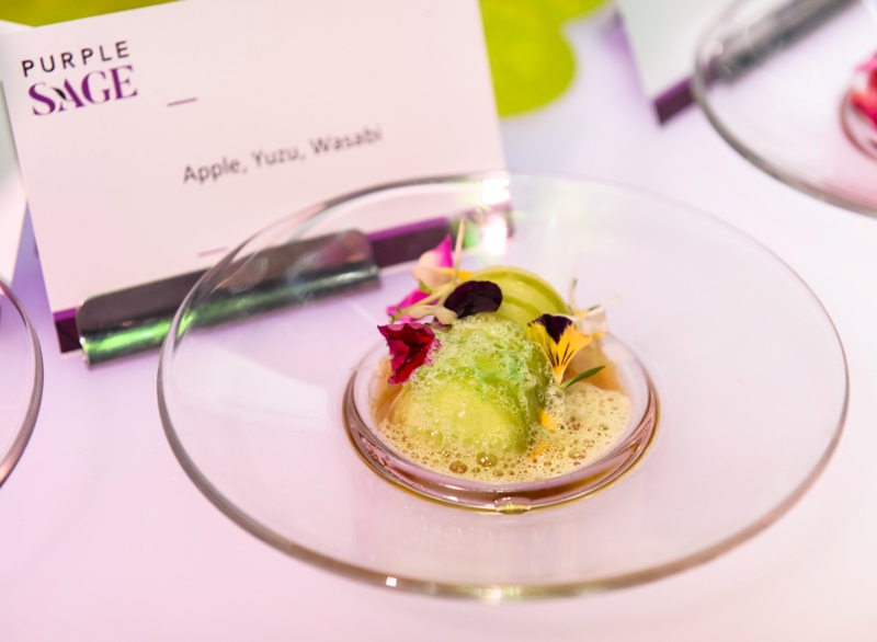 purple sage catering service apple yuzu appetizer