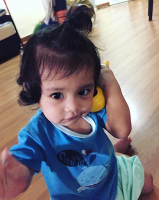 WOW! Gambar Terkini Anak Aeril Zafrel Dan Wawa Zainal Yang Terlajak Comel