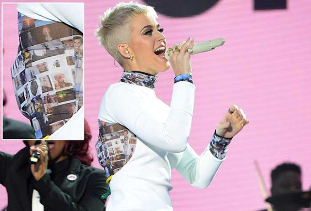 Katy Perry honors Manchester victims on dress during benefit concert