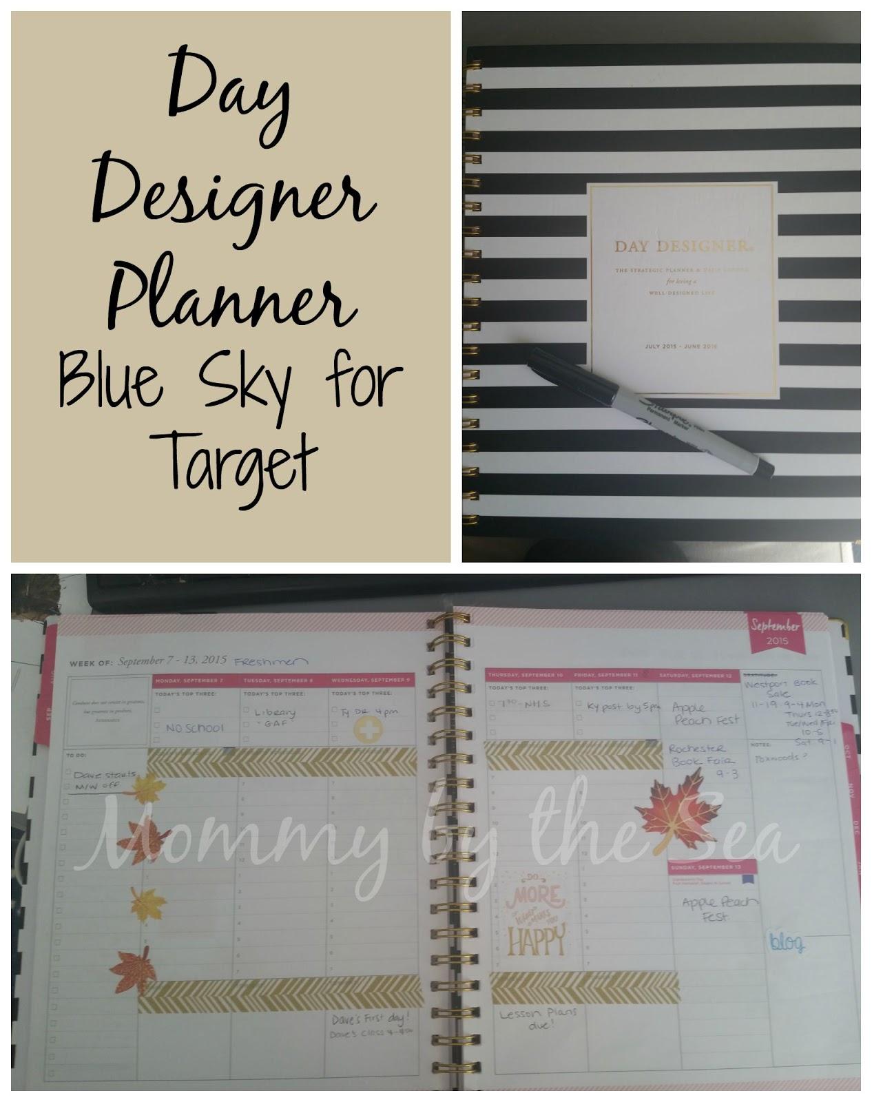 photo regarding Day Designer for Target named The Occupied Giffs: Blue Sky for Concentration Working day Designer Planner