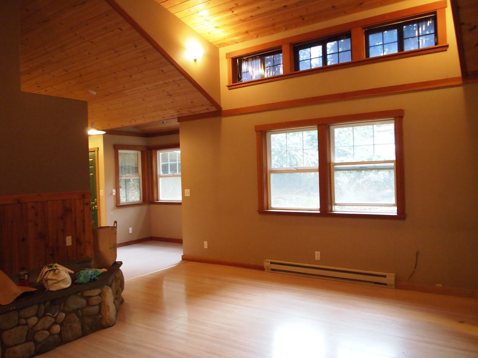 Living Room Colors With Wood Beams
