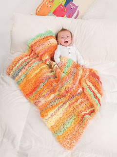 Crochet super simple baby afghan pattern