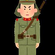 旧日本兵のイラスト(陸軍)