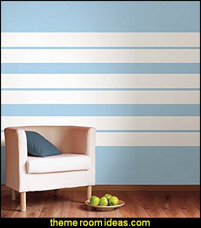 Ghost Stripe wall decals
