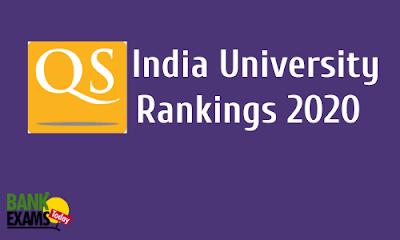 QS India University Rankings 2020: Highlights