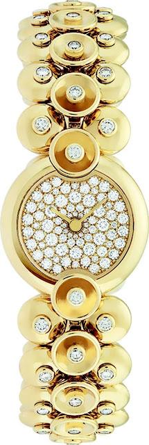ساعة نسائية ذهبية مرصعة باللماس