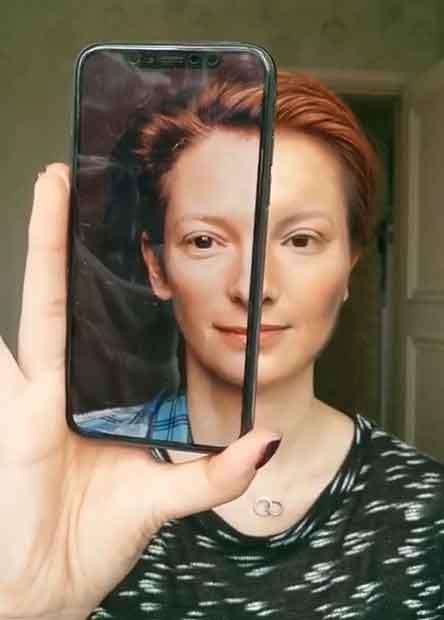 Transformasi Makeup menjadi Tilda Swinton