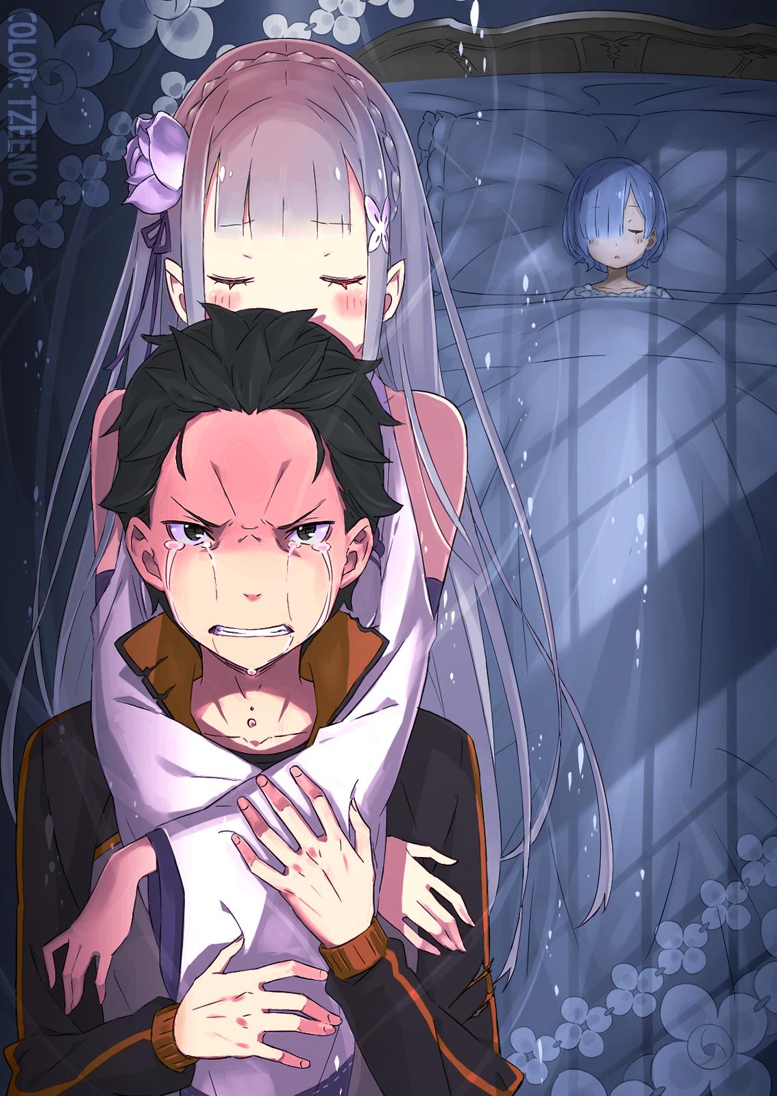 Re Zero Kara Hajimeru Isekai Seikatsu Emilia And Rem 2 Heaven